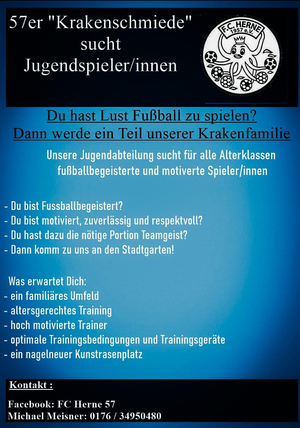 """57er """"Krakenschmiede"""" sucht Jugendspieler/innen"""